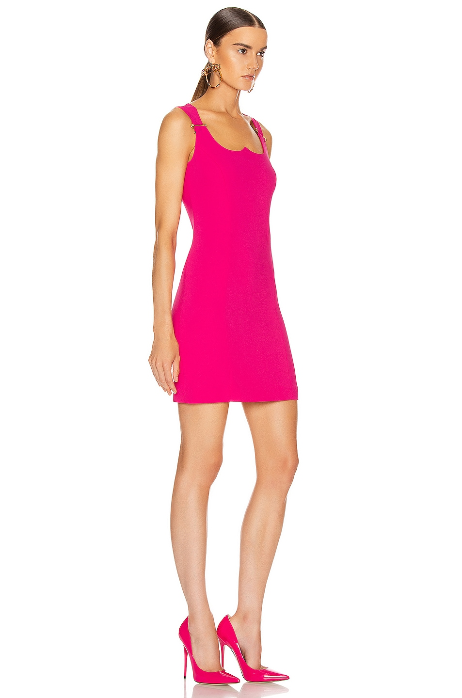 Image 2 of VERSACE Mini Dress in Fuchsia