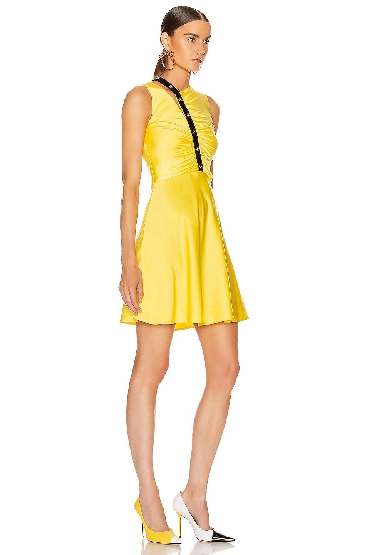 Image 2 of VERSACE Sleeveless Mini Dress in Yellow & Black