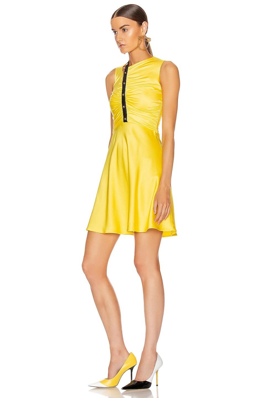 Image 3 of VERSACE Sleeveless Mini Dress in Yellow & Black