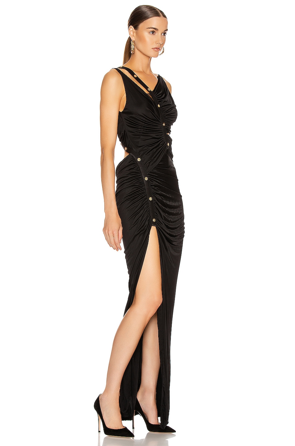 Image 2 of VERSACE Long Evening Gown in Black