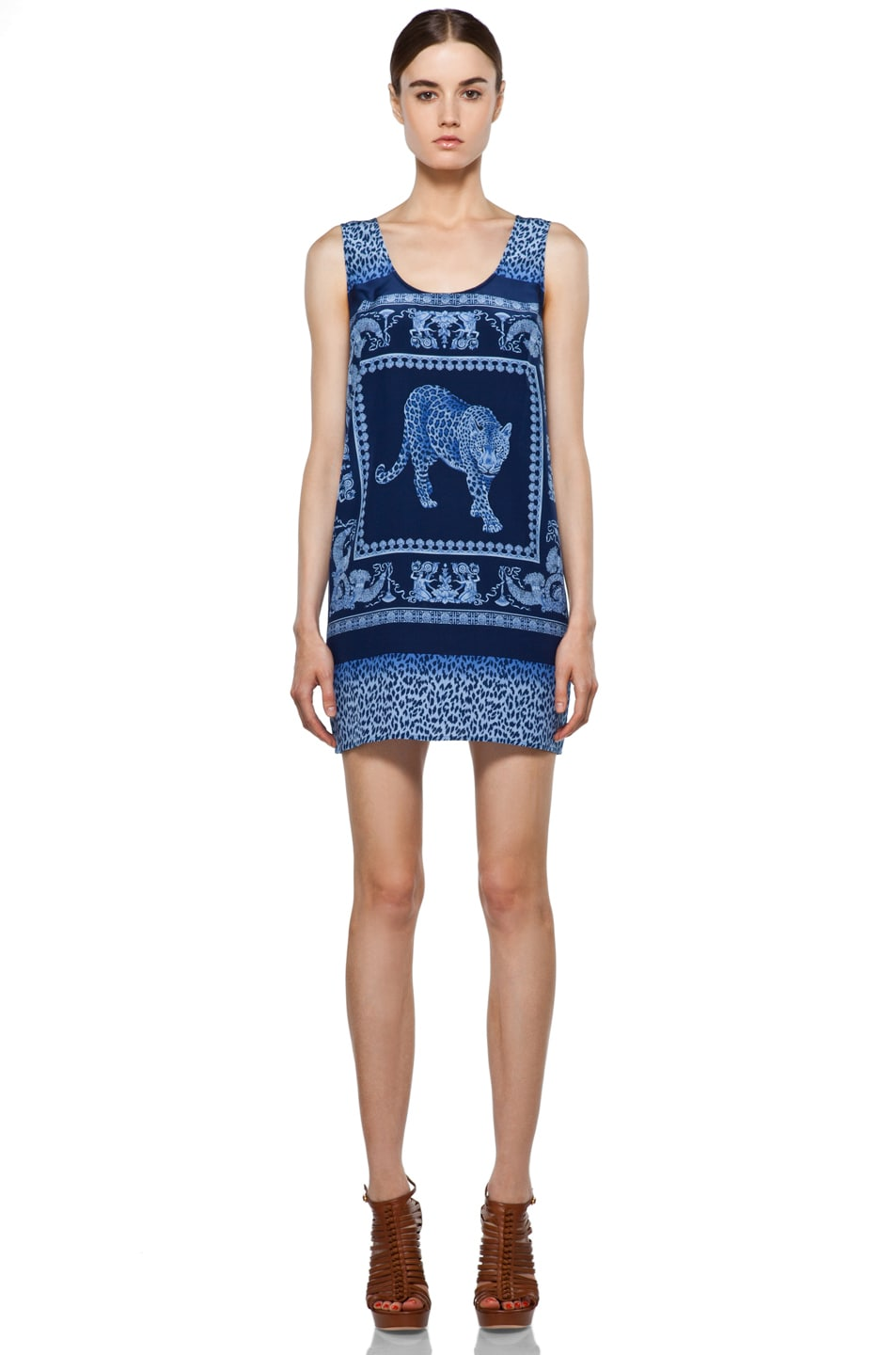 Image 1 of VERSACE Silk Tunic in Bluette