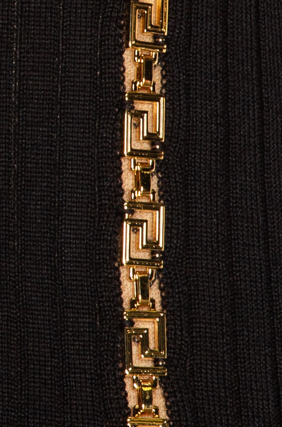 Image 4 of VERSACE Turtleneck Sleeveless Mini Dress in Black