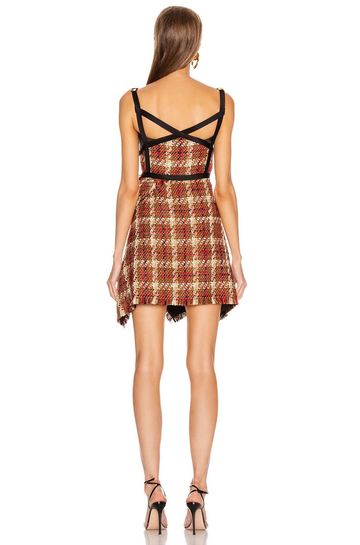 Image 4 of VERSACE Bustier Mini Dress in Black & Brown