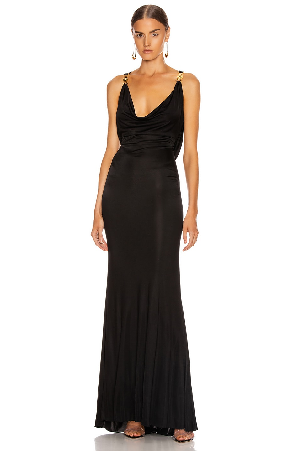 Image 1 of VERSACE Long Evening Gown in Black
