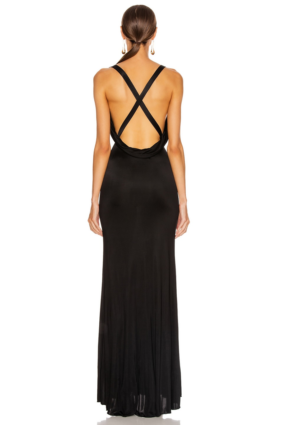 Image 3 of VERSACE Long Evening Gown in Black