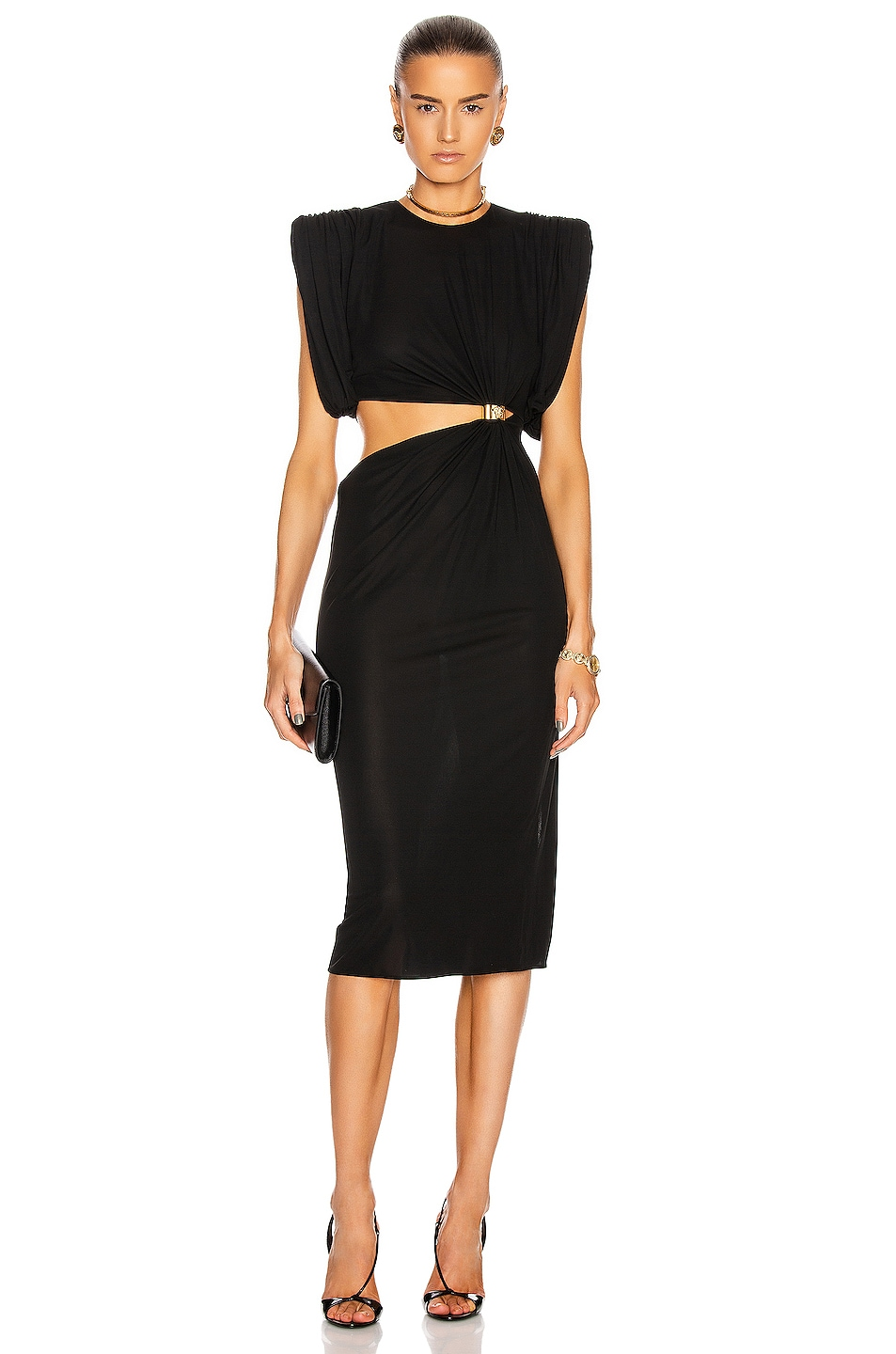 Image 1 of VERSACE Cocktail Cutout Gown in Black