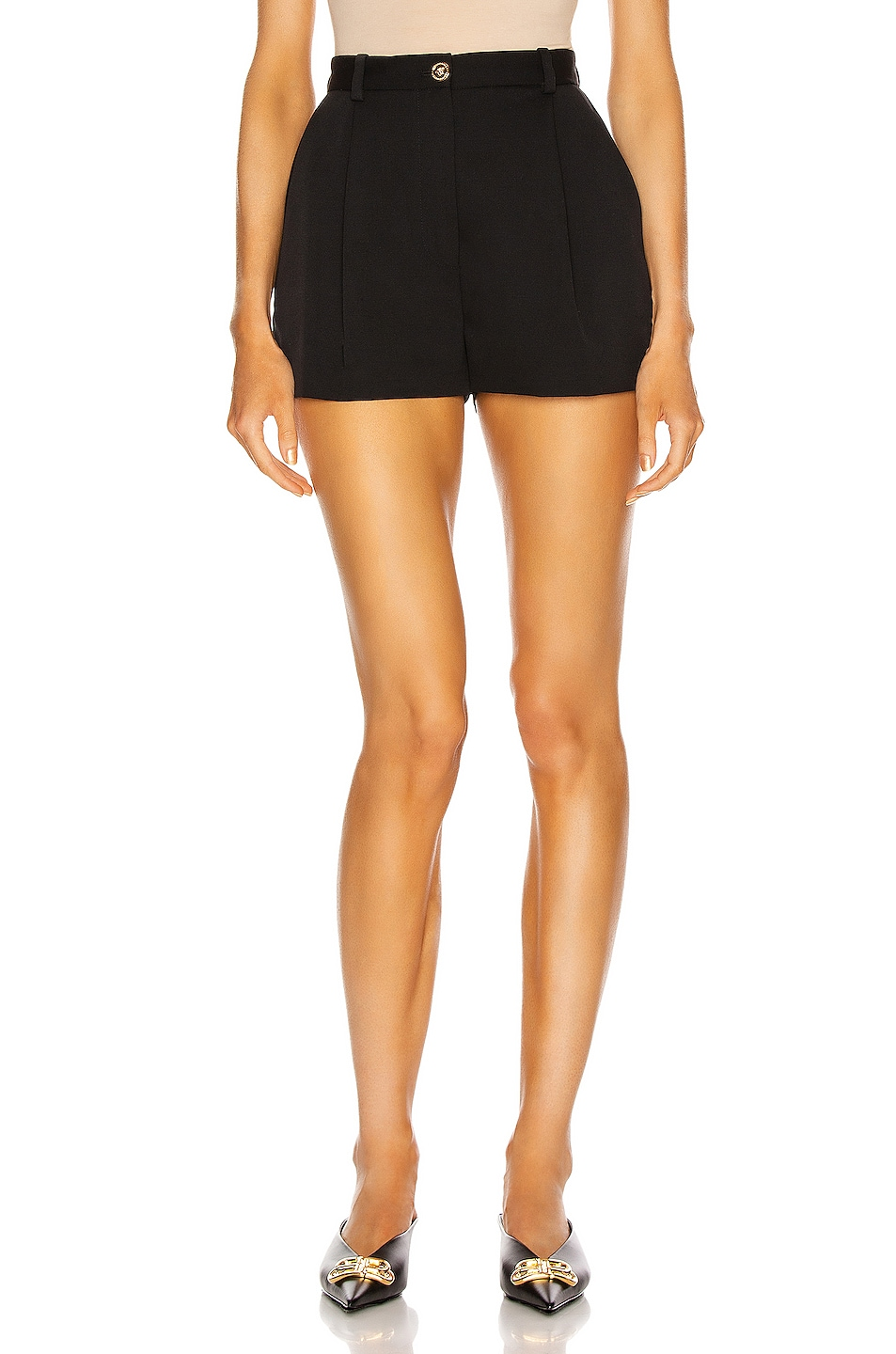 Image 1 of VERSACE Tailored Short in Black