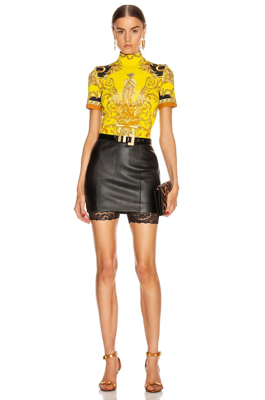 Image 4 of VERSACE Lace Biker Short in Black