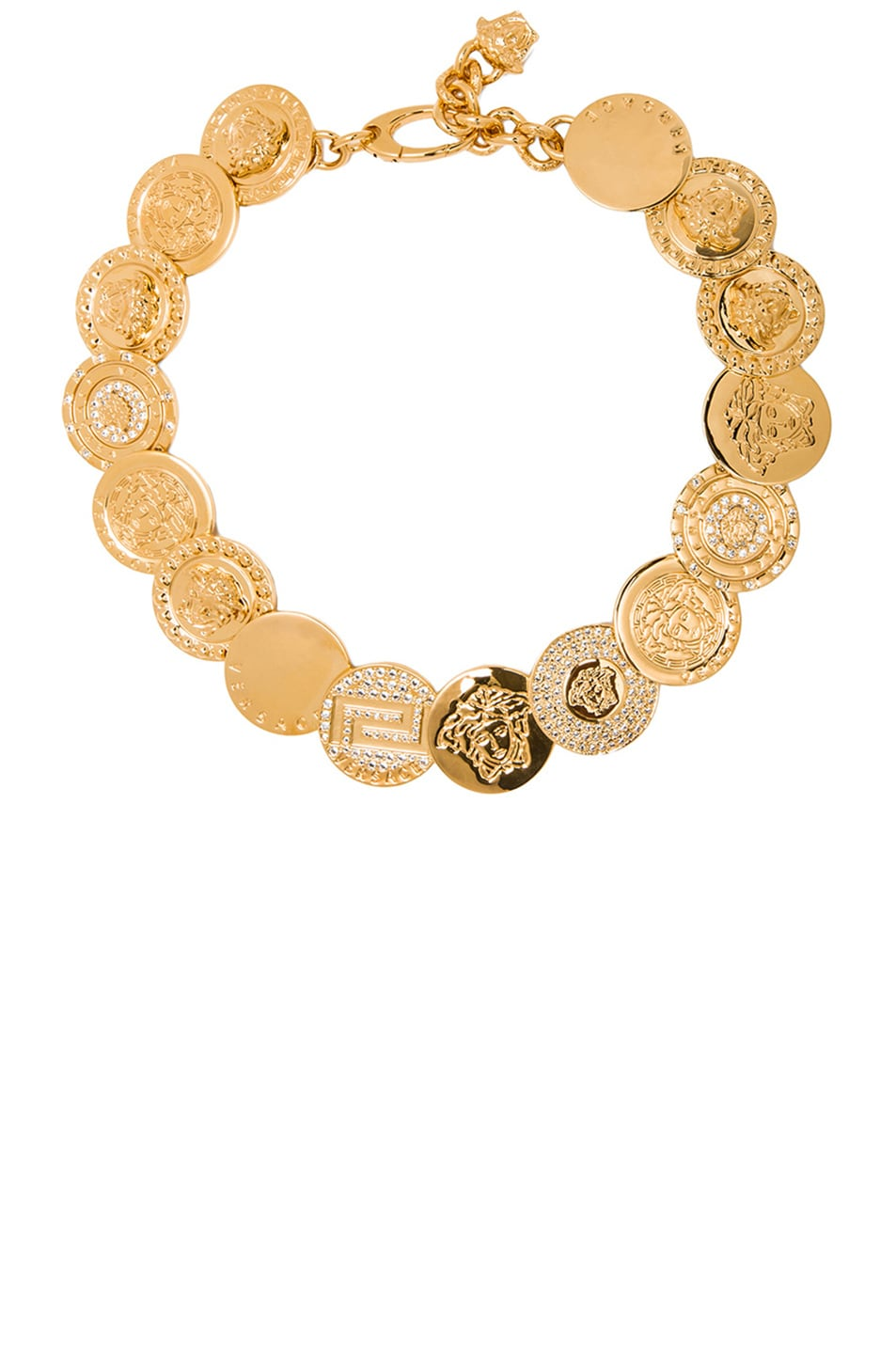Image 1 of VERSACE Medusa Coin Necklace in Gold
