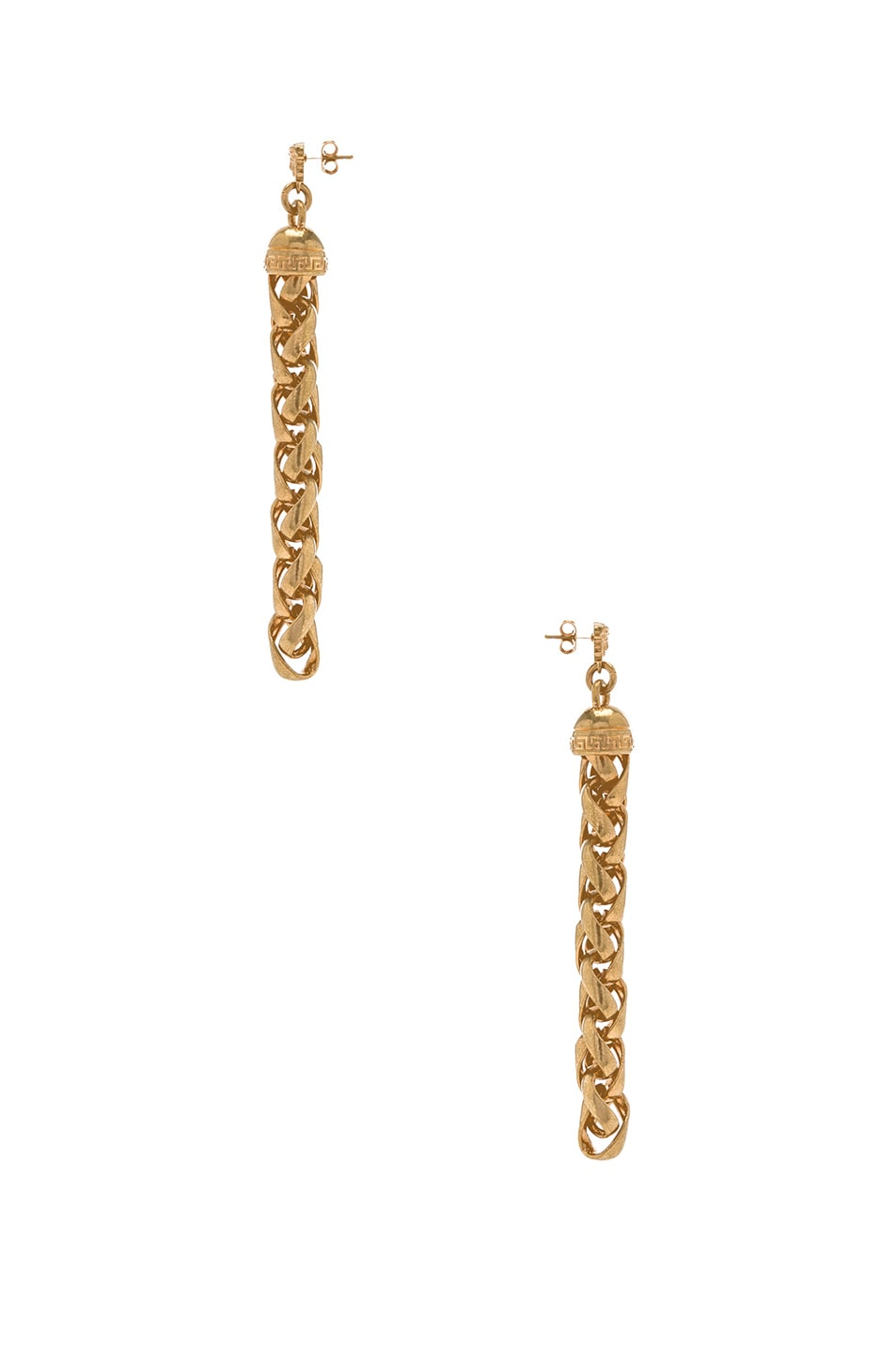 Image 2 of VERSACE Chain Drop Earrings in Gold