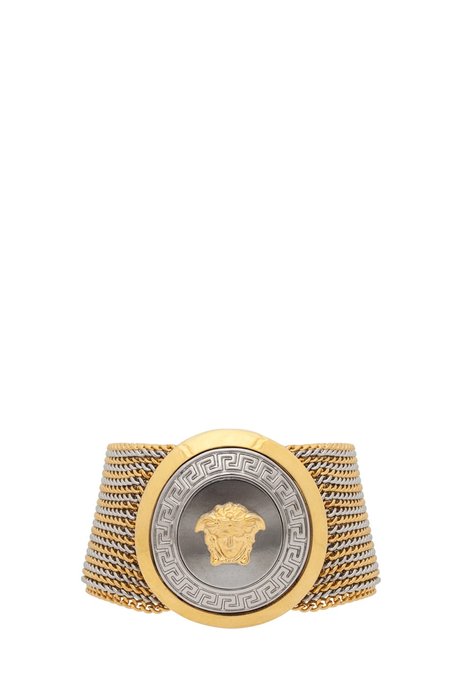 Image 1 of VERSACE Multi Chain Plated Bracelet in Gold