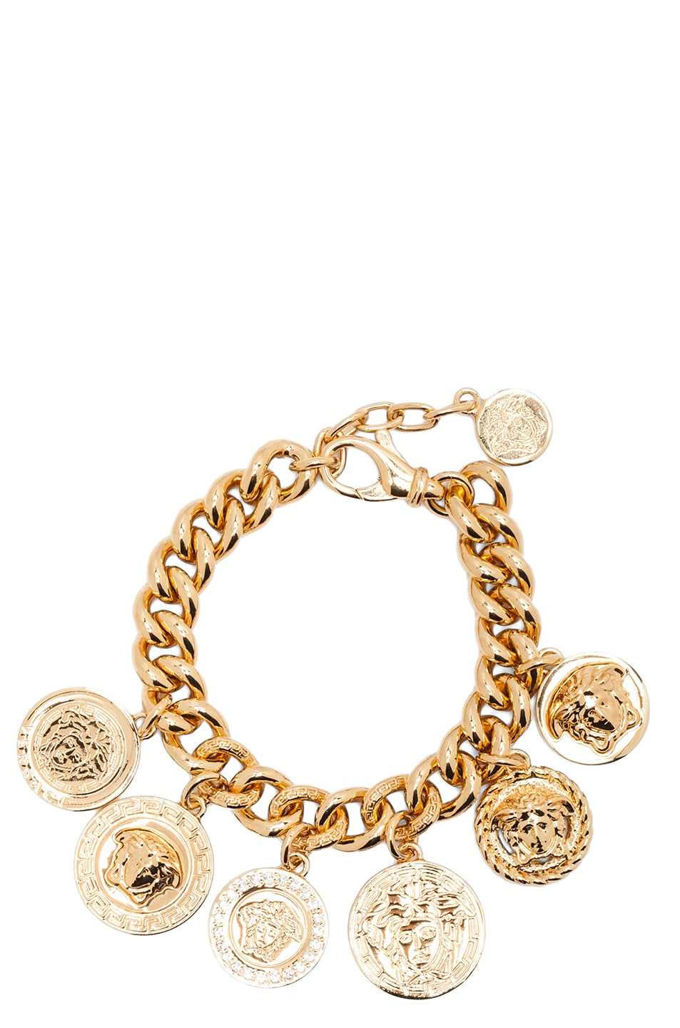 Image 2 of VERSACE Medusa Plated Coin Charm Bracelet in Gold