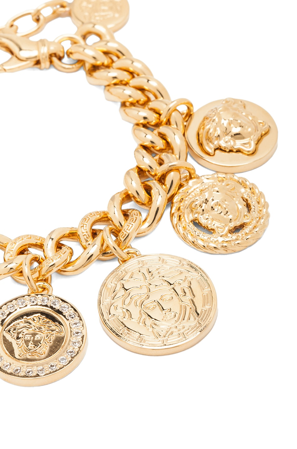 Image 3 of VERSACE Medusa Plated Coin Charm Bracelet in Gold