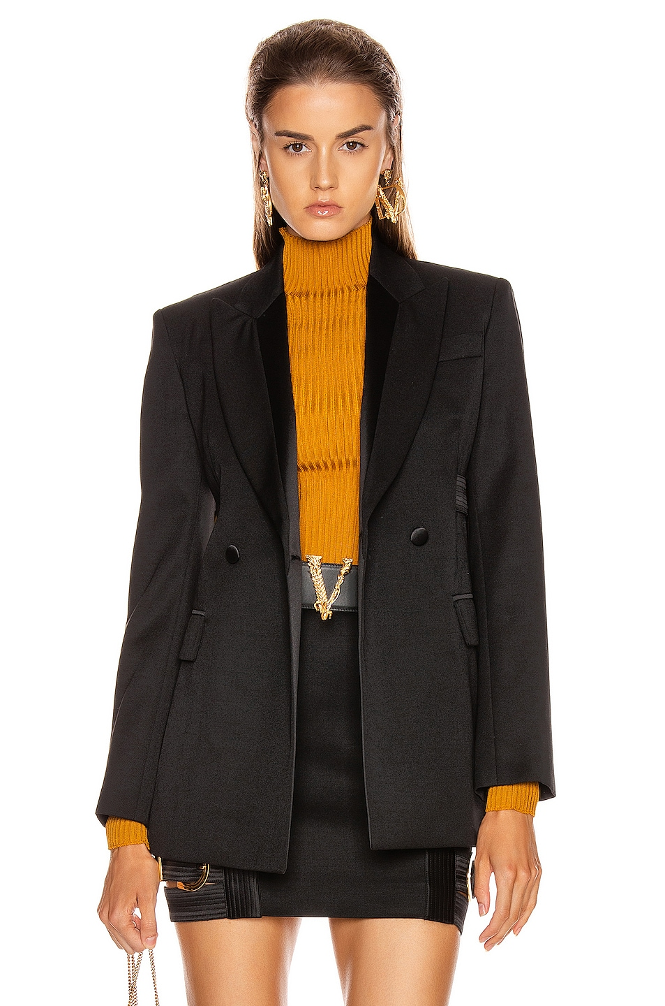Image 2 of VERSACE Tailored Jacket in Black