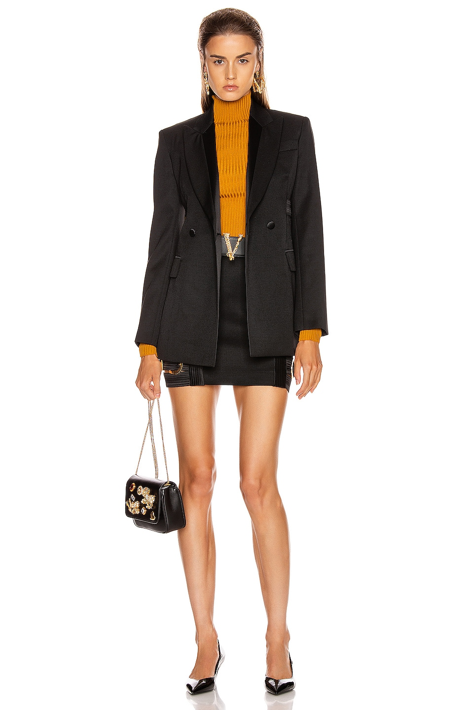 Image 6 of VERSACE Tailored Jacket in Black