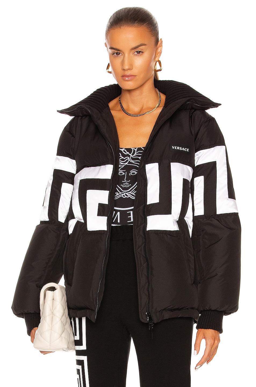 Image 1 of VERSACE Greca Jacket in Nero & Bianco