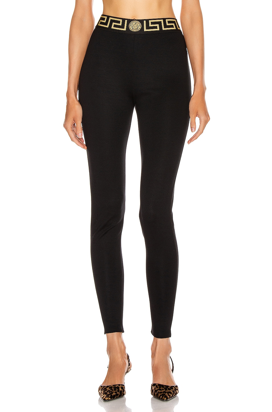 Image 1 of VERSACE Long Legging in Black