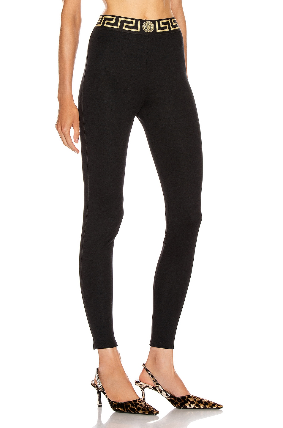 Image 2 of VERSACE Long Legging in Black