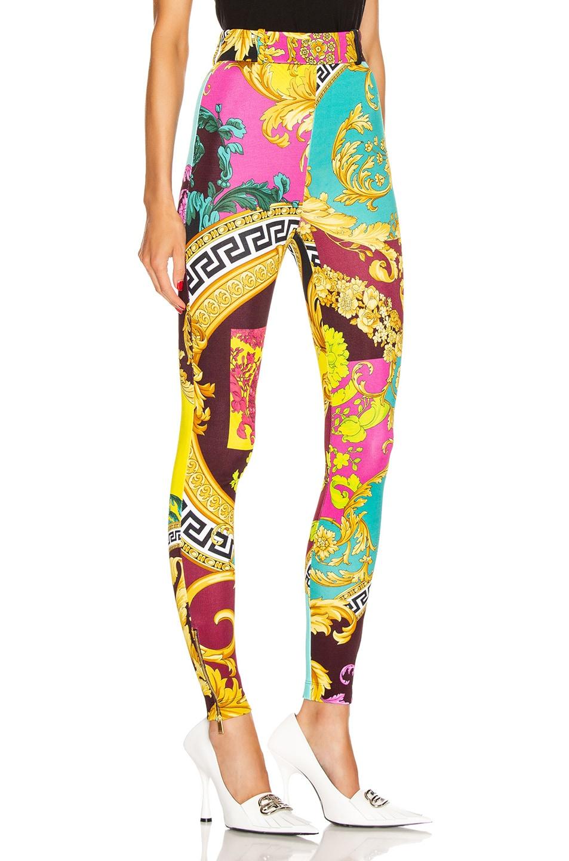 Image 2 of VERSACE Print Legging in Multicolor