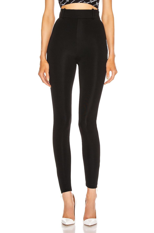 Image 1 of VERSACE Jersey Legging in Black