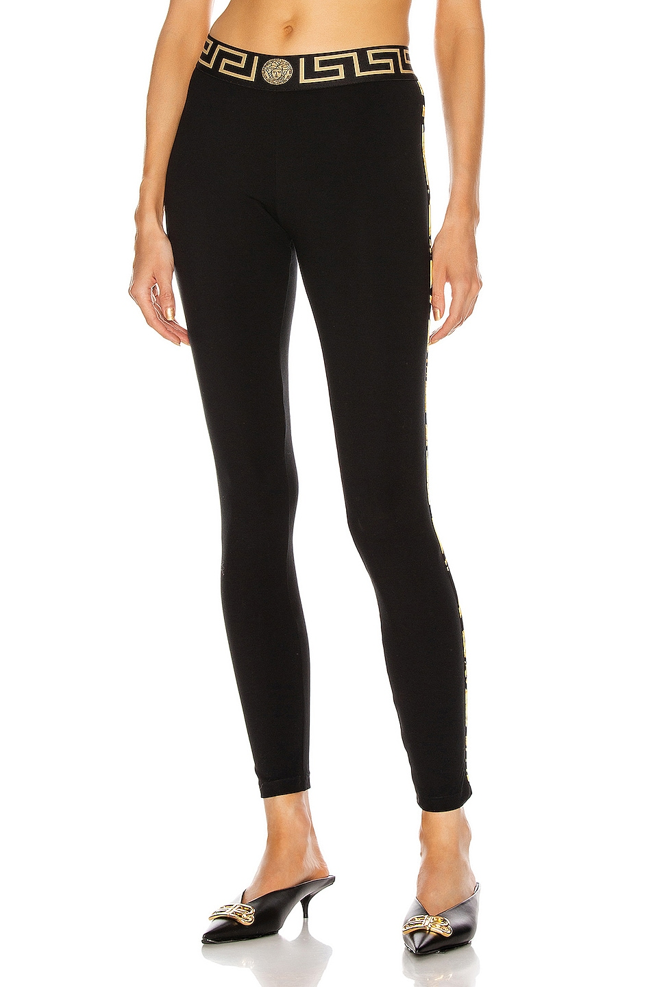 Image 1 of VERSACE Gym Legging in Black