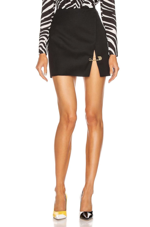 Image 1 of VERSACE Pin Mini Skirt in Black