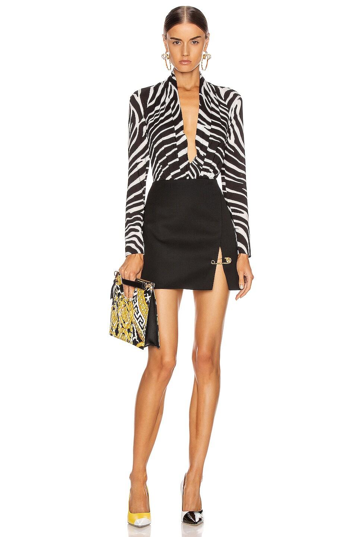 Image 4 of VERSACE Pin Mini Skirt in Black