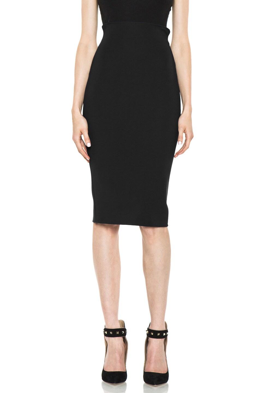 Image 1 of VERSACE Pencil Skirt in Black