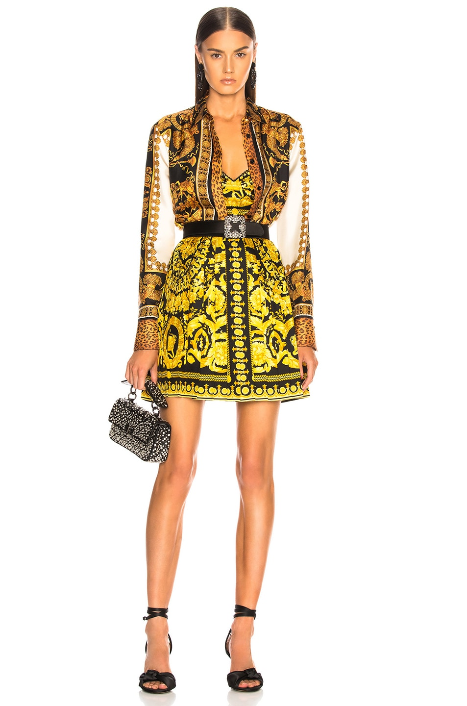 4eaa3ca7 VERSACE Scarf Print Blouse in Yellow Multicolor   FWRD