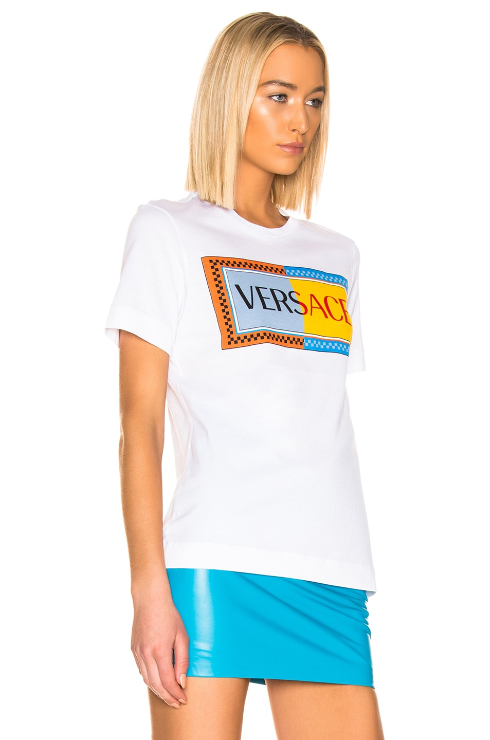 Image 2 of VERSACE Logo T Shirt in White