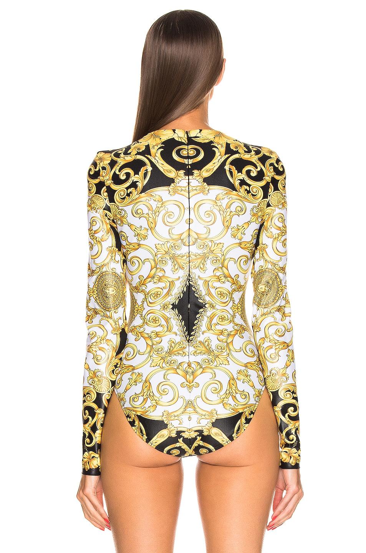 Image 4 of VERSACE Print Bodysuit in Black & Stampa