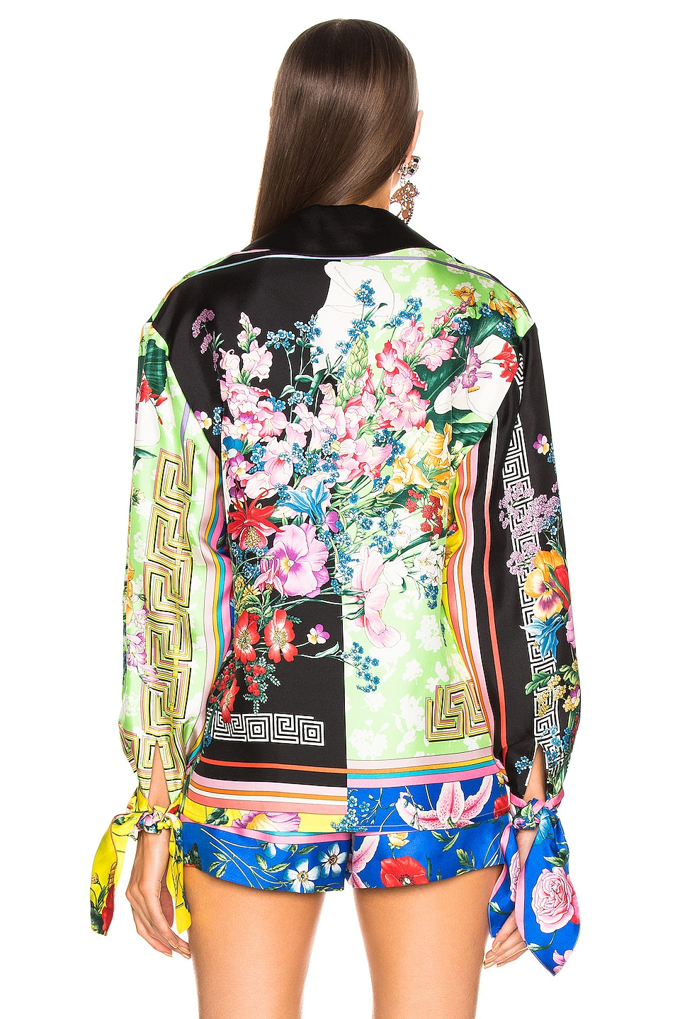 Image 5 of VERSACE Floral Print Top in Multi
