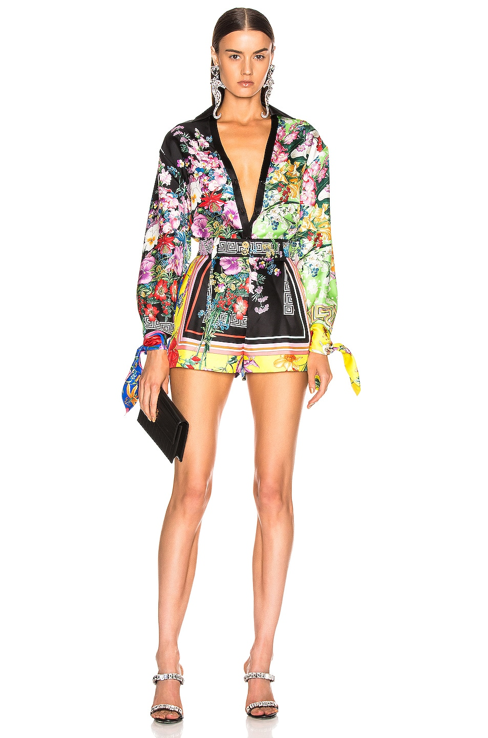 Image 6 of VERSACE Floral Print Top in Multi