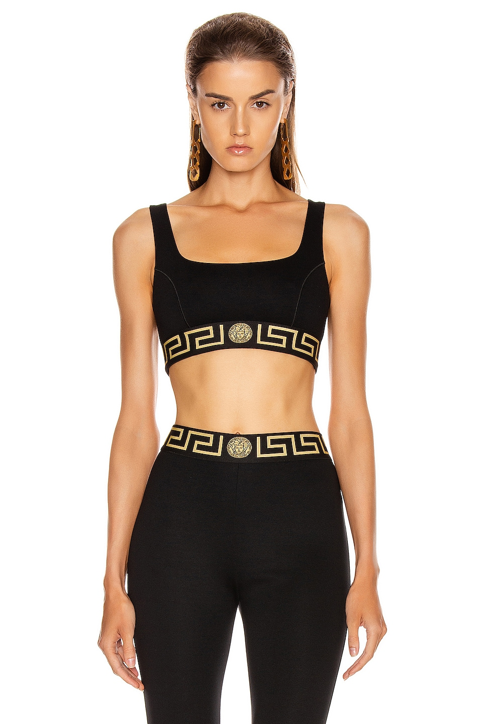 Image 1 of VERSACE Bra Top in Black