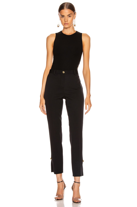 Image 5 of VERSACE Open Back Bodysuit in Black