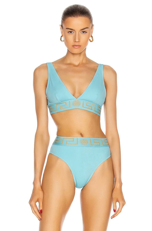 Image 1 of VERSACE Sport Bikini Top in Splash