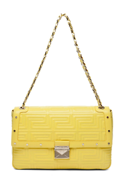Image 1 of VERSACE Lamb Leather Handbag in Yellow