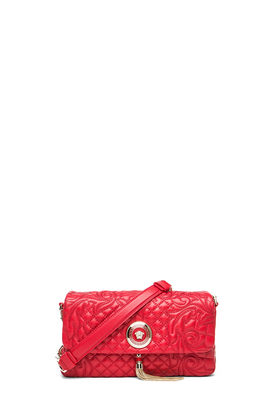 Image 1 of VERSACE Small Pendent Bag in Red