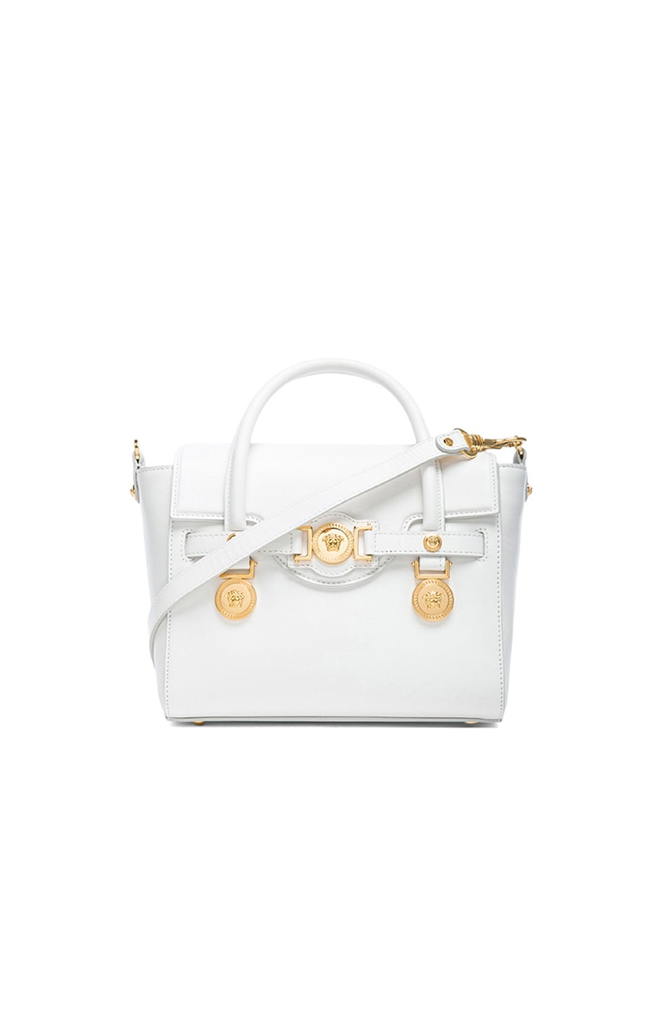 Image 1 of VERSACE Small Satchel in White & Gold