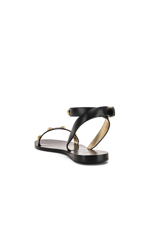 Image 3 of VERSACE Logo Sandals in Black