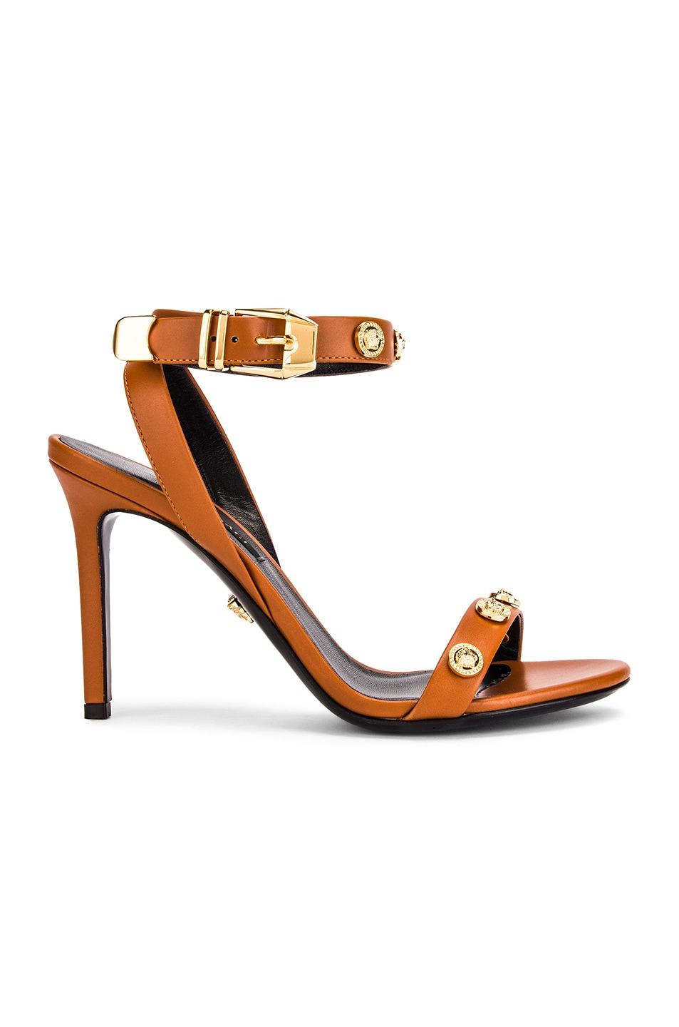 Image 1 of VERSACE Ankle Strap Heels in Orange