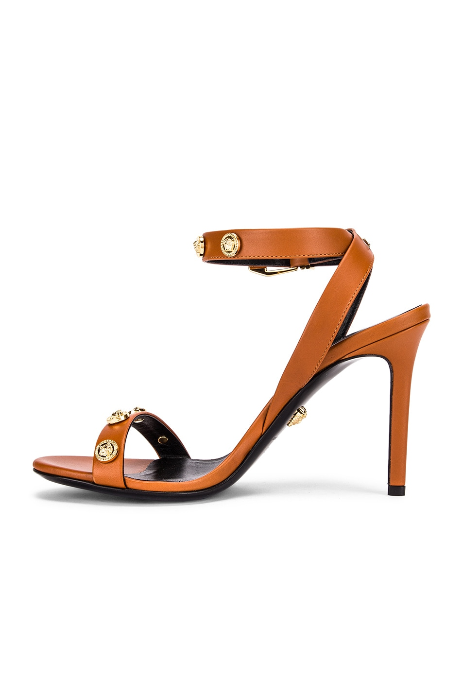Image 5 of VERSACE Ankle Strap Heels in Orange