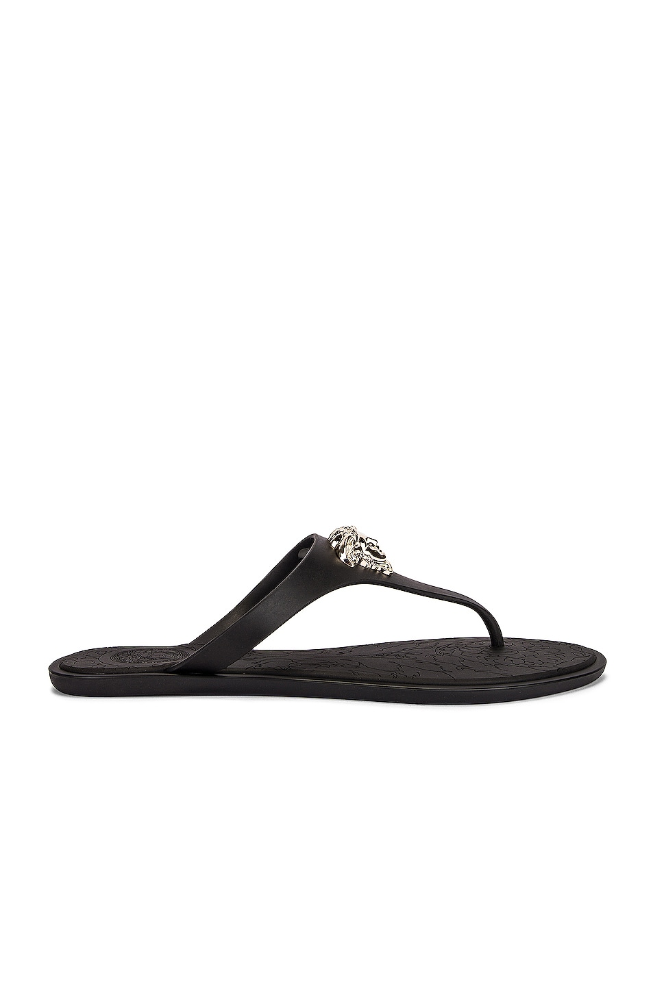 Image 1 of VERSACE Medusa Thong Sandals in Nero & Oro