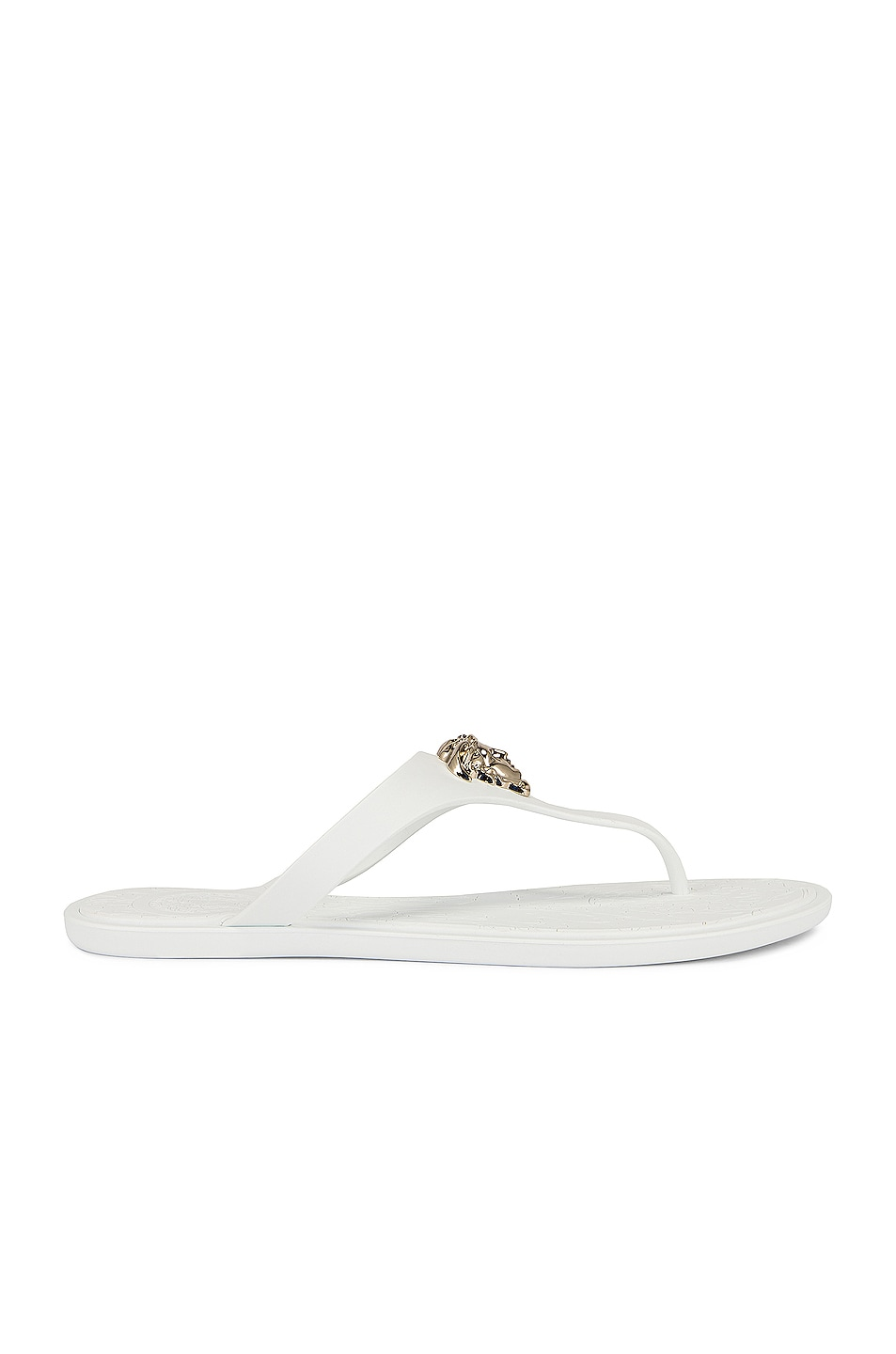 Image 1 of VERSACE Medusa Thong Sandals in Bianco & Oro