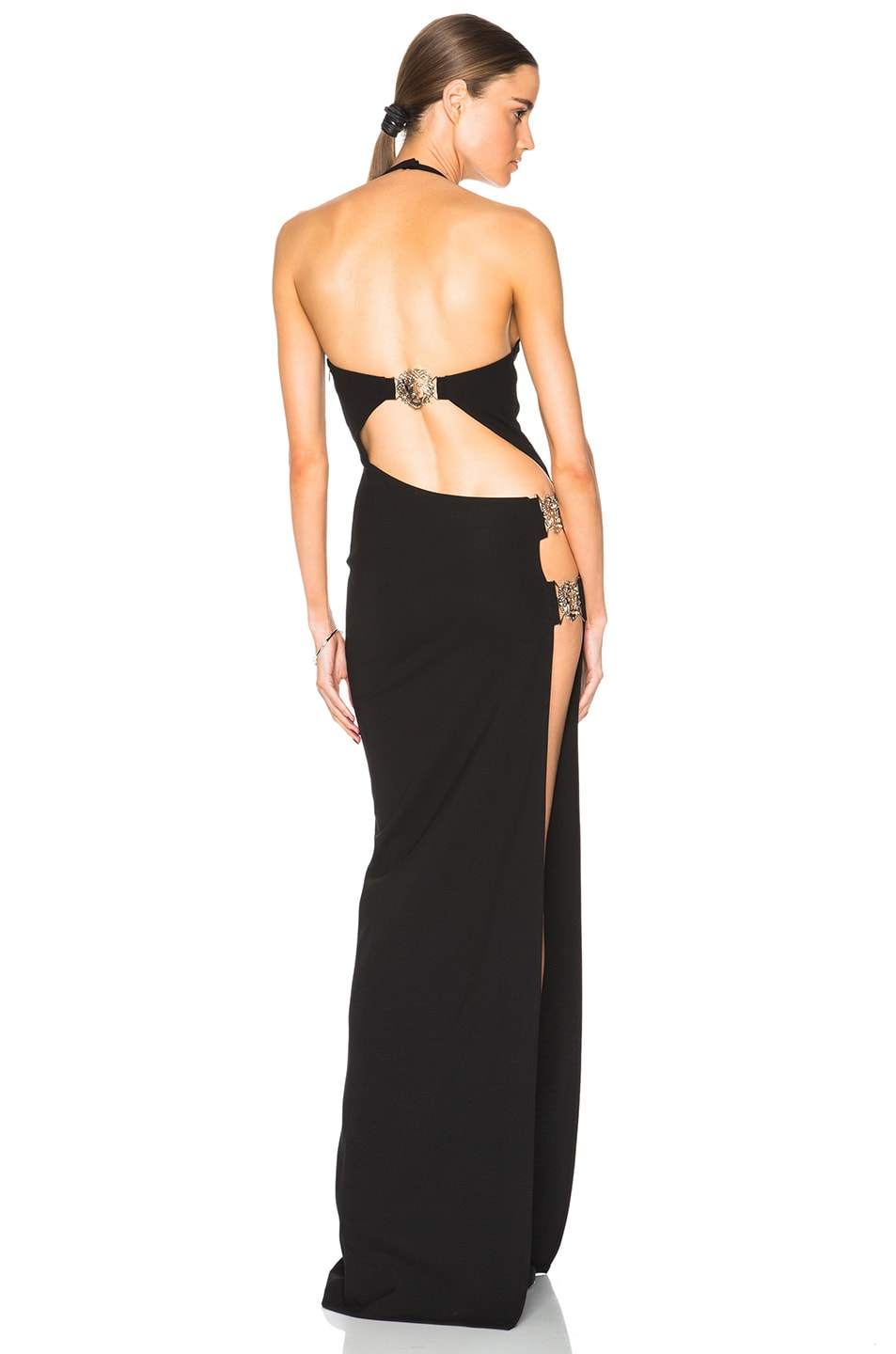 Image 1 of Versus Halter Gown in Black