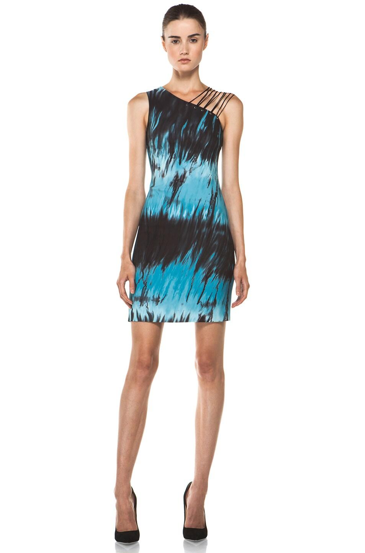 Image 1 of Versus Tie Dye Tank Dress in Sugar Paper Print