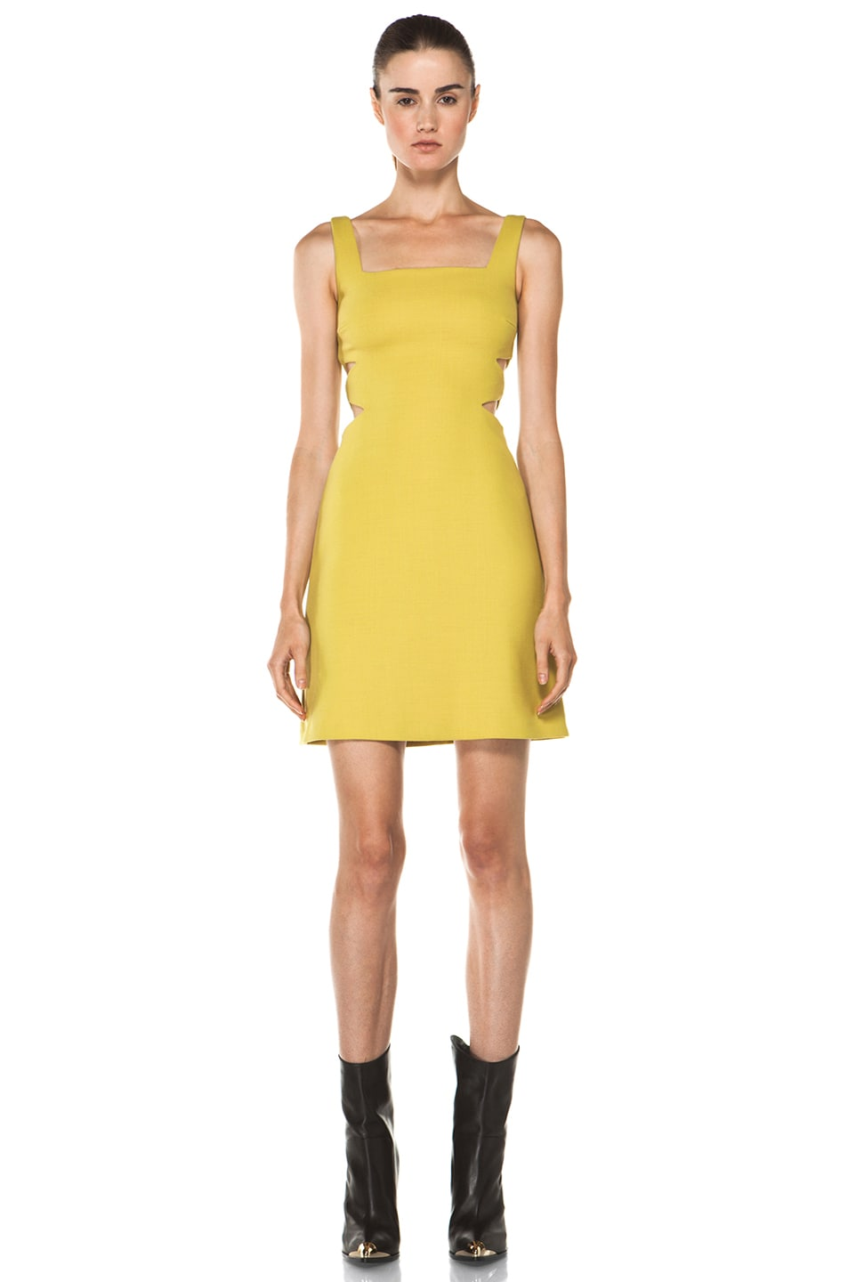 Image 1 of Versus Cut Out Tank Dress in Citron