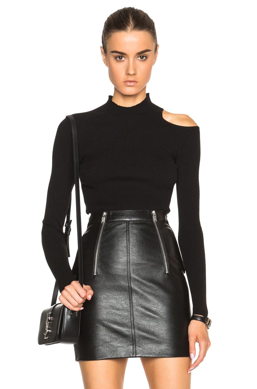 Versus Cut Out Shoulder Sweater In Black Fwrd