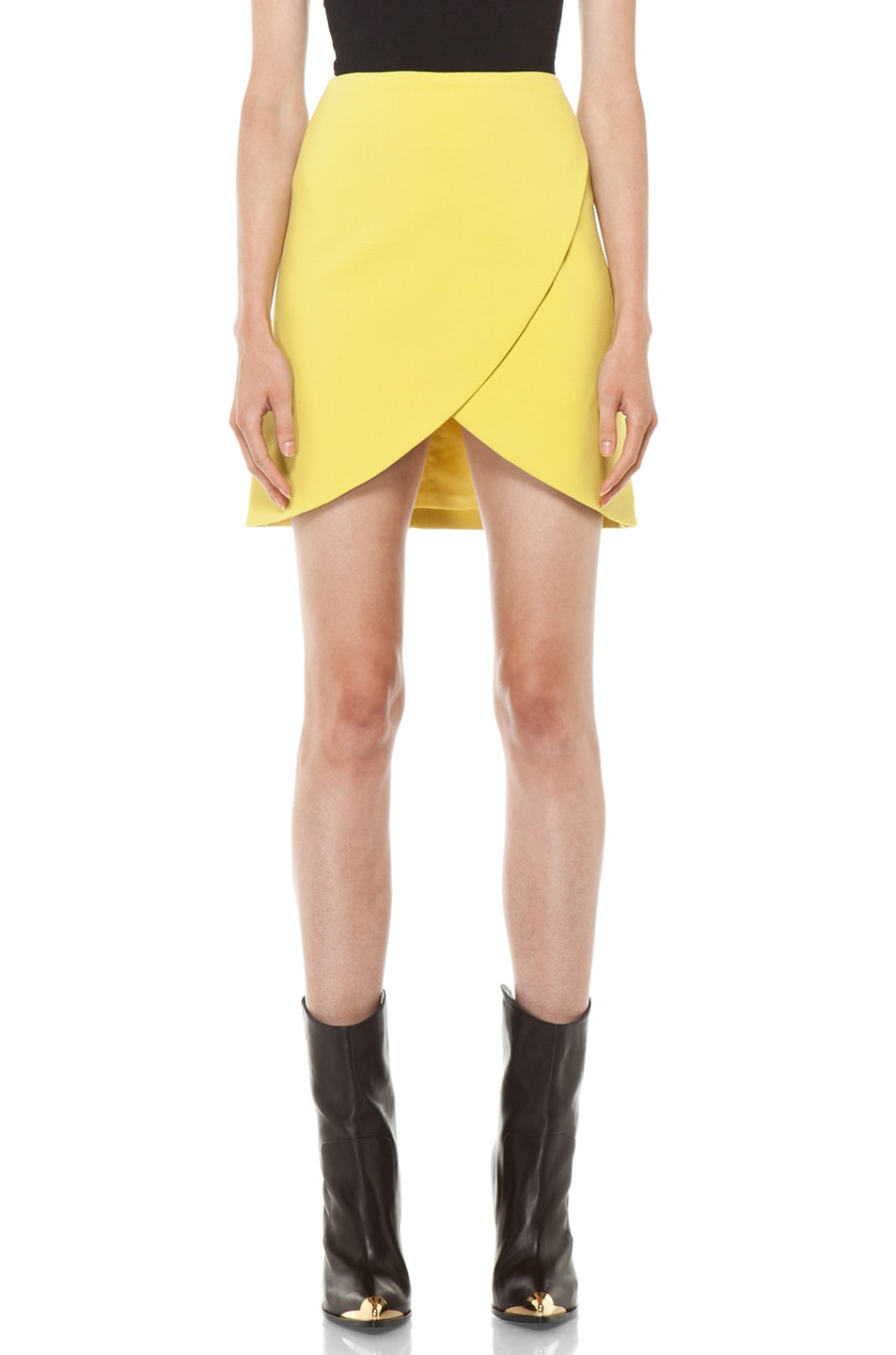 Image 1 of Versus Crossover Skirt in Citron
