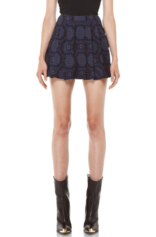 Image 1 of Versus Pleated Mini Skirt in Midnight